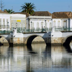 Roman bridge in Tavira Venice of Algarve