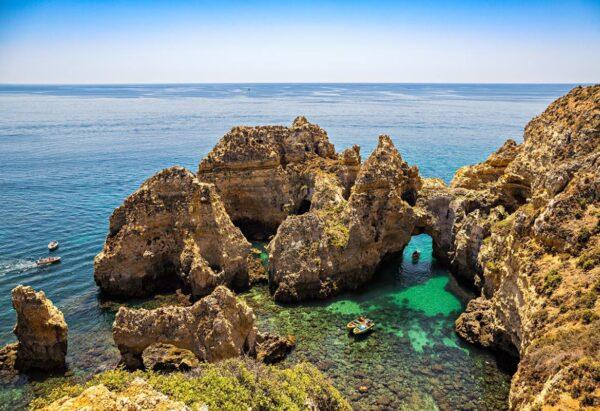 Ponta da Piedade where the famous sea caves are to be found